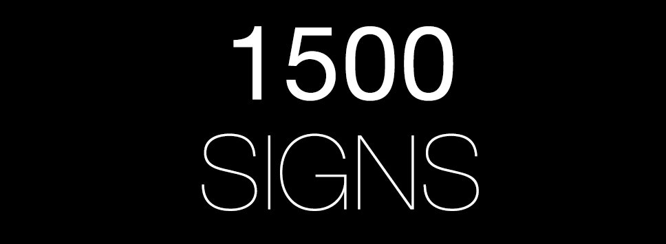 1500 Signs